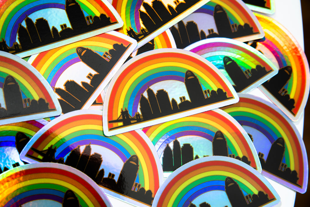 Cincy Pride Holographic Sticker