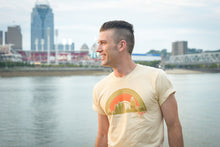 Load image into Gallery viewer, Cincinnati Skyline Shirt (cream or yellow color options)