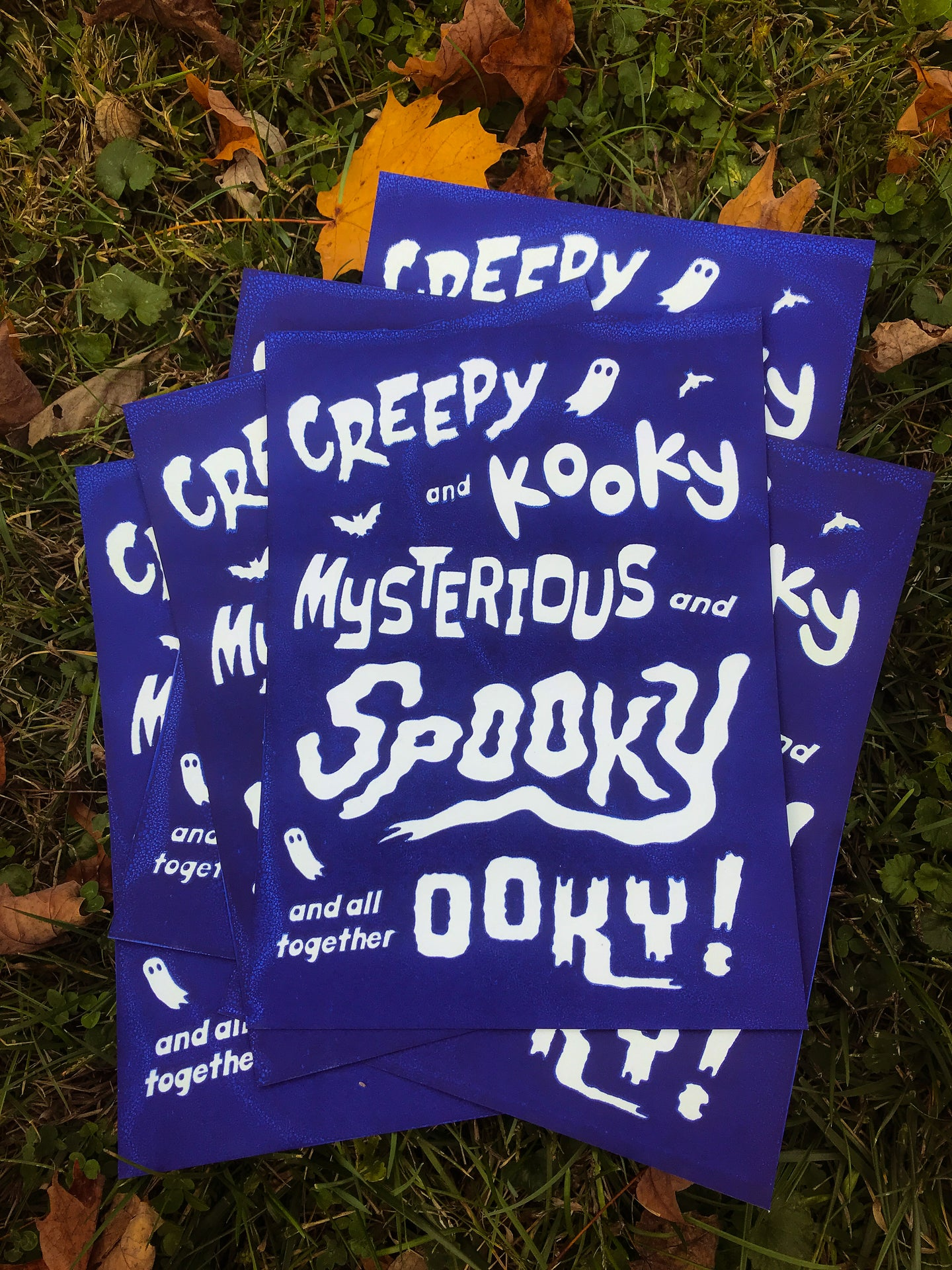 Creepy Kooky Mysterious Spooky and Ooky Glow-in-the-Dark Print!