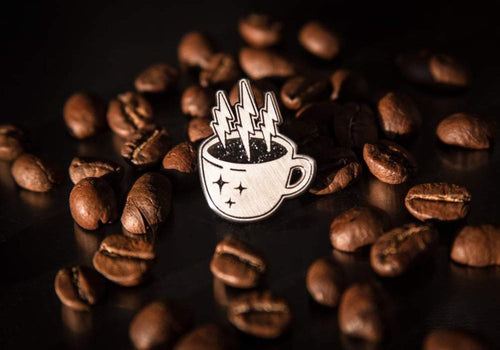 Electric Elixir Coffee Enamel Pin