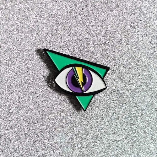 Electric Eye Glow-in-the-Dark Enamel Pin