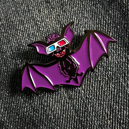 Batty 3D! (Pin or patch)