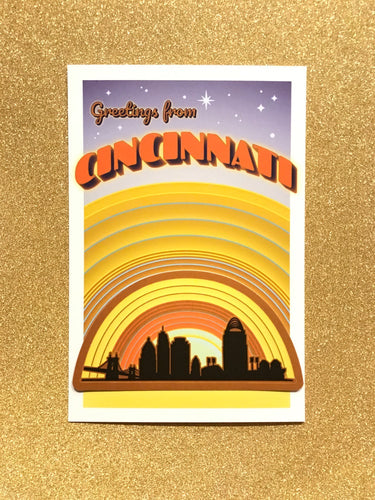 Cincinnati Skyline Sticker & Post Card Set