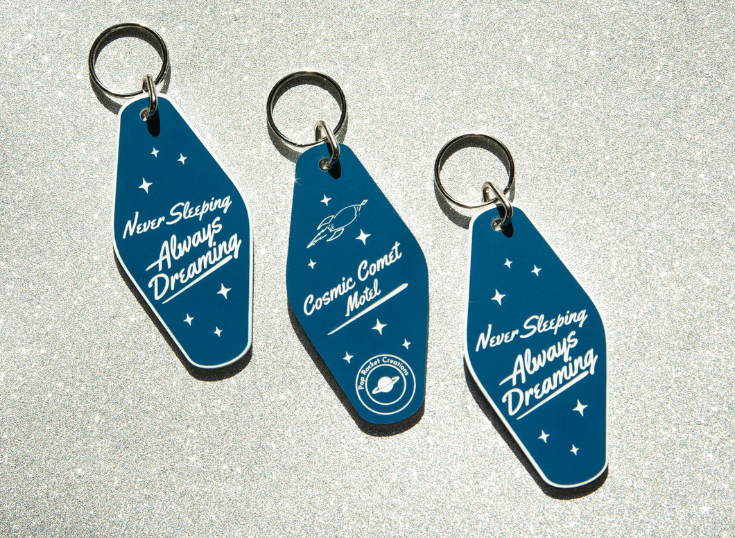 Motel Keychain from the Cosmic Comet Hotel