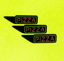 Load image into Gallery viewer, Pizza Neon Sign Pin (glows in the dark!)