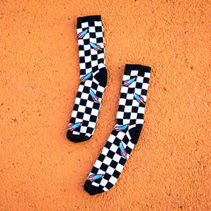 Pop Rocket Checkerboard Socks