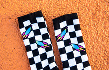 Load image into Gallery viewer, Pop Rocket Checkerboard Socks