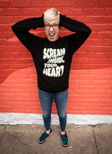 Load image into Gallery viewer, Scream Inside Your Heart Crewneck