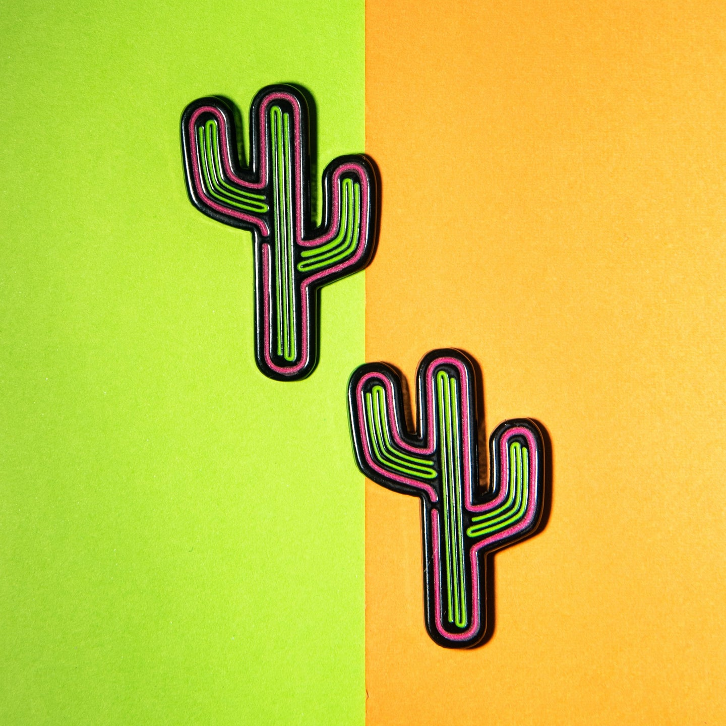 Cactus Neon Sign Pin (glows in the dark!)