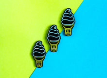Load image into Gallery viewer, Ice Cream Cone Neon Sign Pin (glows in the dark!)