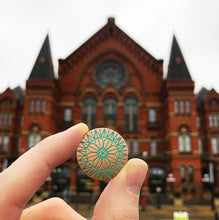 Load image into Gallery viewer, Cincinnati Music Hall Rose Window Pin