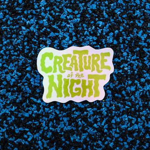 Creature of the Night holographic sticker