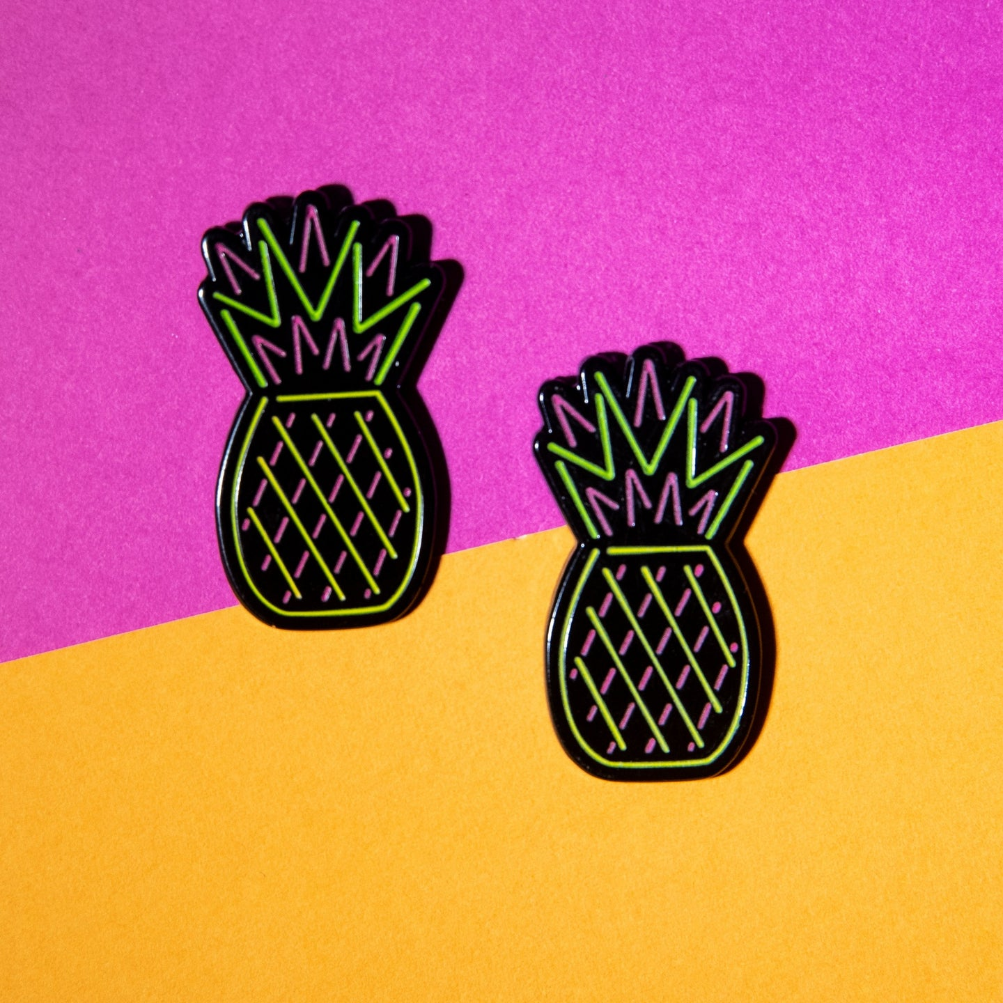 Pineapple Neon Sign Pin (glows in the dark!)