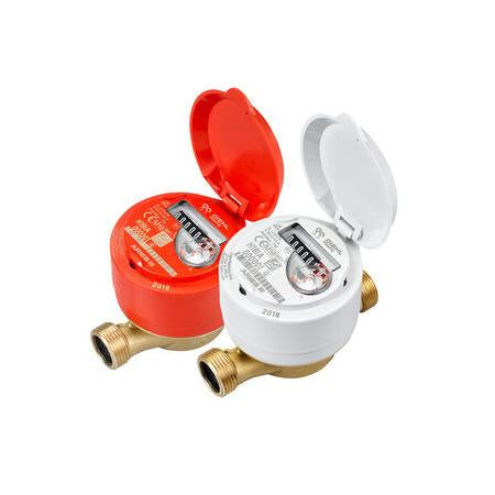 15mm Single Jet Hot Water Sub Meter (1/2