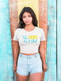 The Feds Aint God Women's Crop Tee