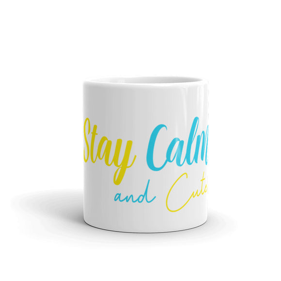 Stay Calm And Cute Coffee Mug