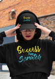 """Success from Scratch"" Crop Hoodie"