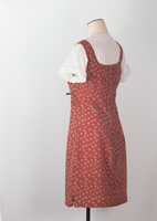 Floral rust dress - small