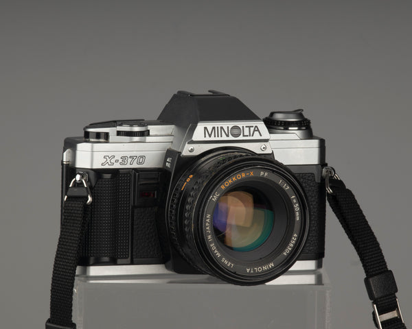 Minolta X-370 35mm film SLR camera with a 50mm f1.7 MC Rokkor-X