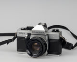 Praktica MTL 5 35mm film SLR camera with Rikenon 50mm f2 lens