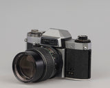 Praktica Nova 1B 35mm SLR camera with Exaktar 135mm f2.8 lens