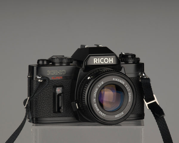 The Ricoh KR-10 Super 35mm film SLR camera with Rikenon 50mm f1.7 lens