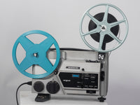 Argus Vari-Motion 892Z Dual Super 8 and 8mm shown with reels