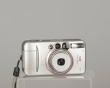 The Canon Sure Shot 80u (AKA Prima Zoom 80u) is an ultra-compact 35mm point and shoot camera from 2003.