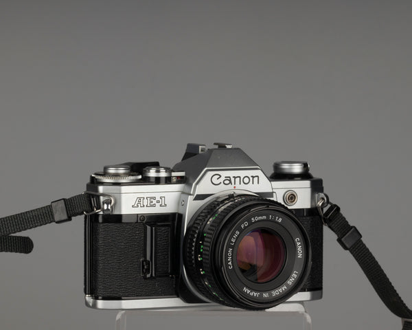Canon AE-1 35mm SLR with Canon FD 50mm f1.8 lens