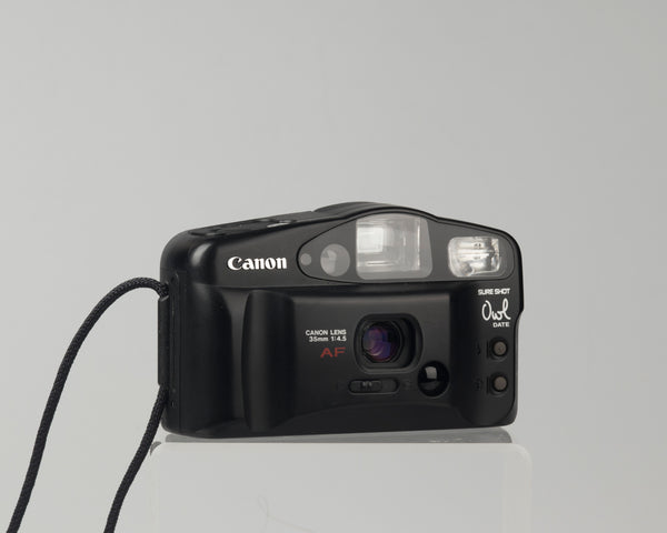 The Canon Sure Shot Owl (called the Sure Shot AF-7 or Prima AF-7 in some countries) is a well-designed 1990s compact 35mm camera with a nice, sharp fixed 35mm f/3.8 lens.