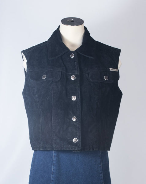 Washable suede vest