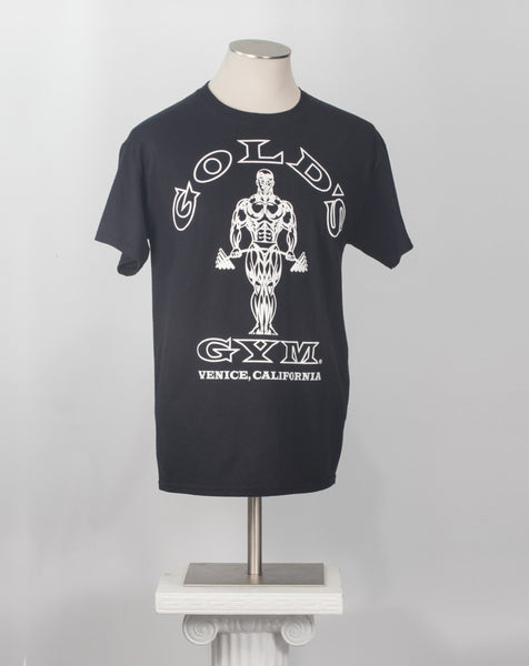 Gold's Gym black t-shirt Venice California vintage