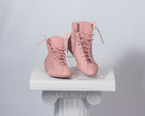 Sbicca pink lace up sneaker boots - women's 7.5