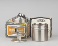 Honeywell Nikor Q15 stainless steel film developing tank with two 35mm reels