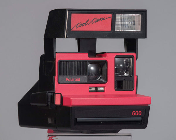Red Polaroid 600 Cool Cam instant camera