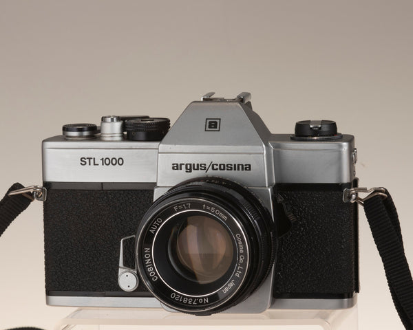 Argus/Cosina STL 1000 35mm SLR camera with Consinon auto 50mm f1.7 front