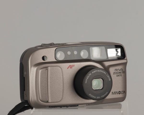 Minolta Riva Zoom 70 Date 35mm film camera with 35-70mm aspherical lens