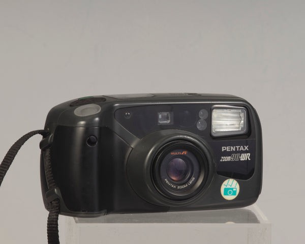 The Pentax Zoom90-WR classic 1990s point-and-shoot 35mm film camera