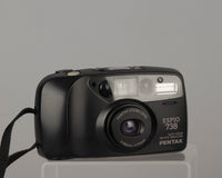 The Pentax Espio 738 is one of the better plastic 35mm point and shoot cameras from the 1990s.