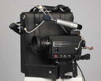 The Sankyo Sound XL-60S Super 8 camera with numerous accesories.