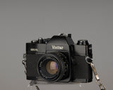 Vivitar 220/SL 35mm SLR camera with 50mm f1.8 len and ever-ready case