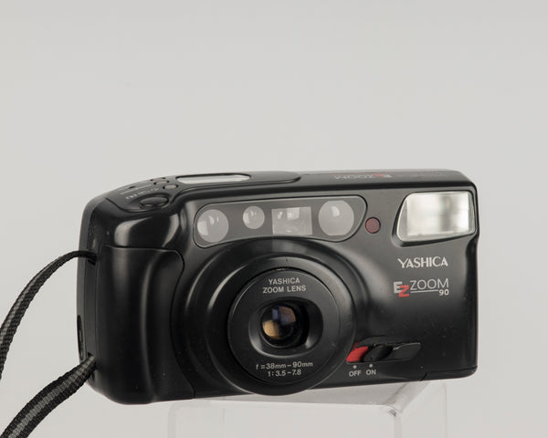 The Yashica EZ Zoom 90 (aka Zoomtec 90) is a high quality 35mm point and shoot made by Kyocera in the early 90s.