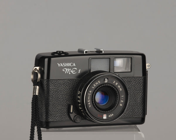 The Yashica ME-1 is a very compact zone-focus 35mm camera from the late 1970s