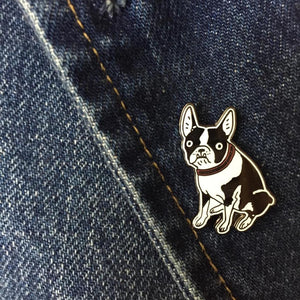 "Kristina Micotti - ""Boston Terrier"" Enamel Pin"