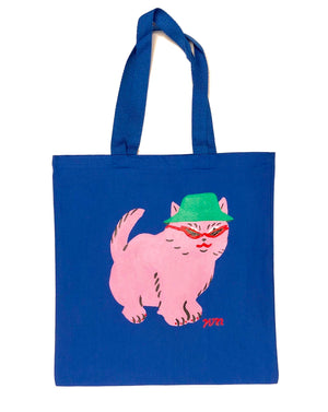 "Kristina Micotti - ""Bucket Hat Kitty"" Tote Bag"