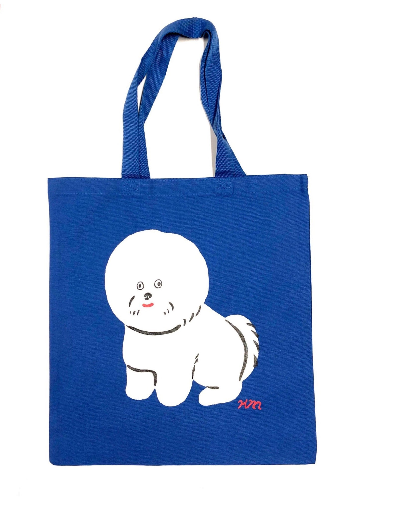 "Kristina Micotti - ""Fluffy White Dog"" Tote Bag"