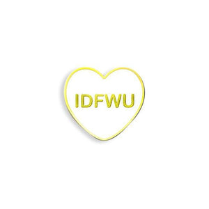 Yesterdays - IDFWU Candy Heart Enamel Pin