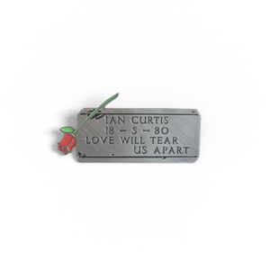 PSA Press - Ian Curtis Headstone (Joy Division) Engraved Pin