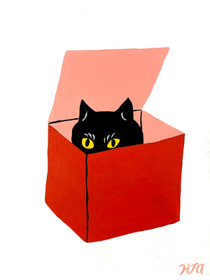 "Kristina Micotti - ""Cat in Red Box"""