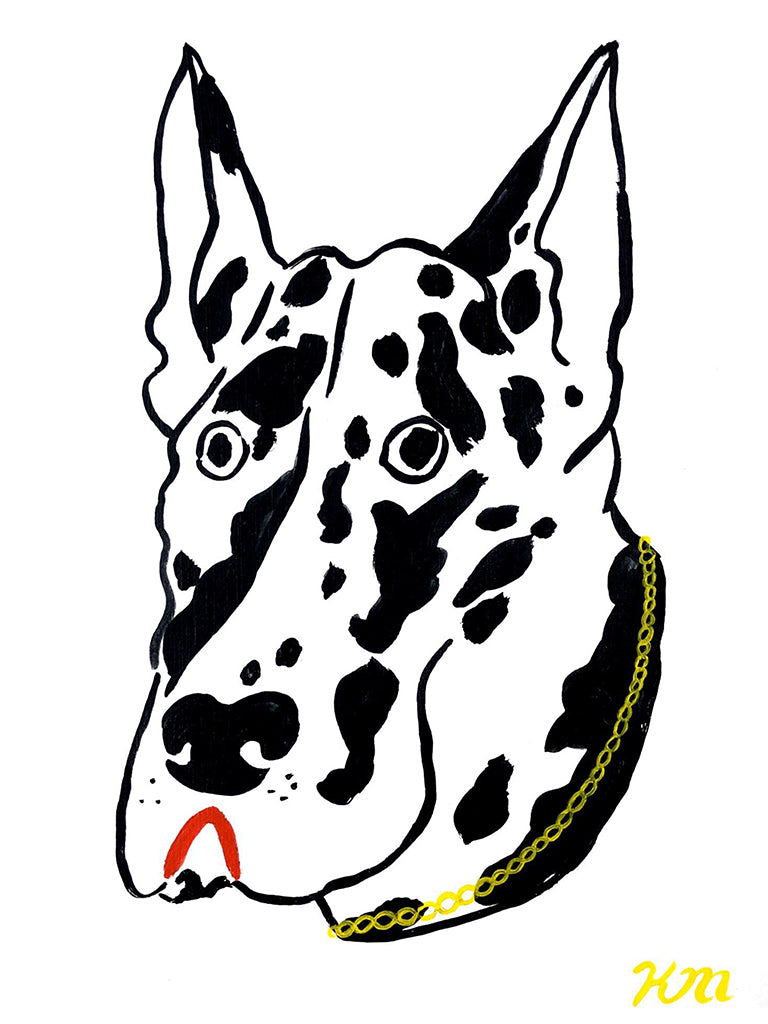 "Kristina Micotti - ""Great Dane with Gold Chain"""